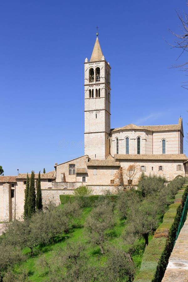 Базилика святой Clare, Assisi стоковые изображения rf