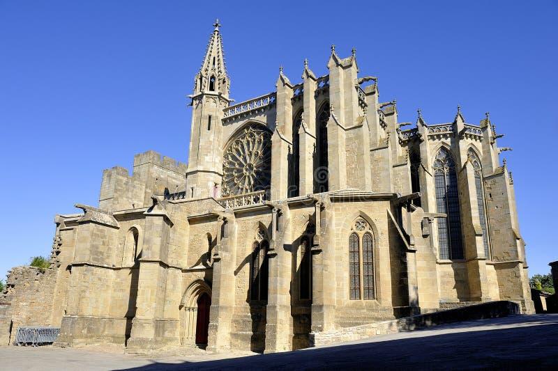 Базилика Свят-Nazaire укрепленного города Каркассона стоковые изображения