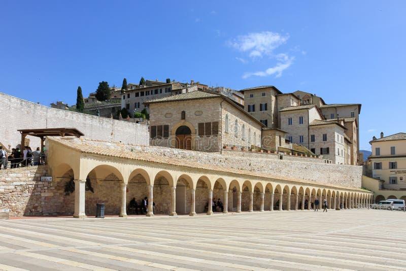 Базилика Св.а Франциск Св. Франциск аркады Assisi стоковое фото rf
