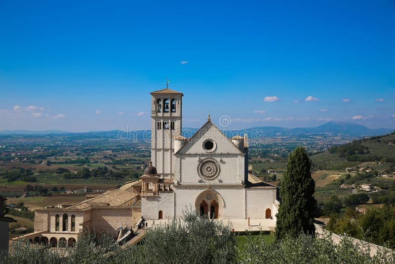 Базилика Св.а Франциск Св. Франциск Базилики di Сан Francesco в Assisi стоковая фотография