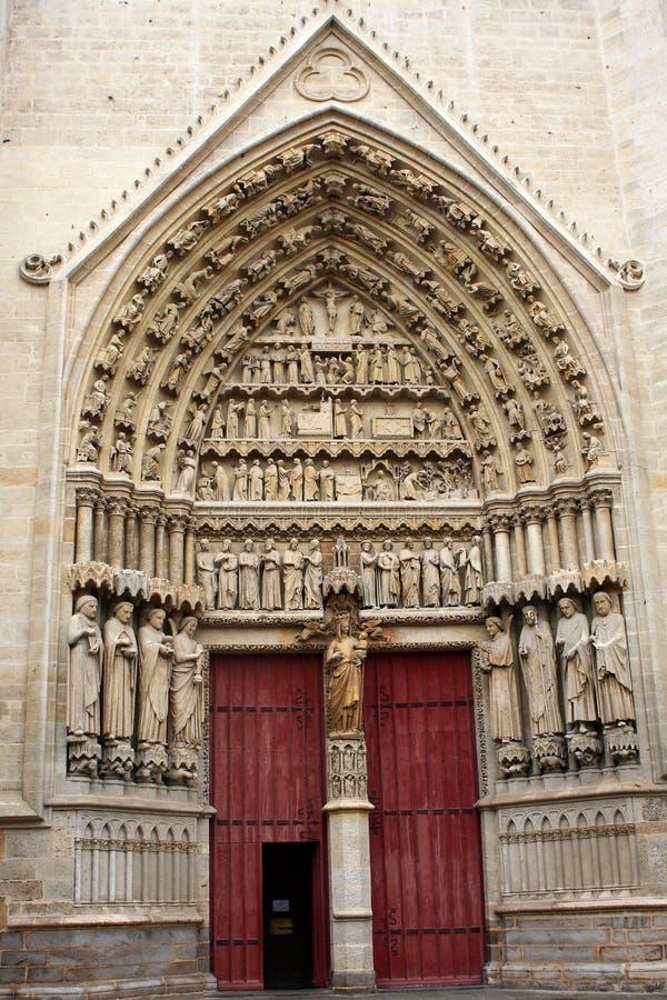 Базилика собора нашей дамы Амьена стоковое изображение rf