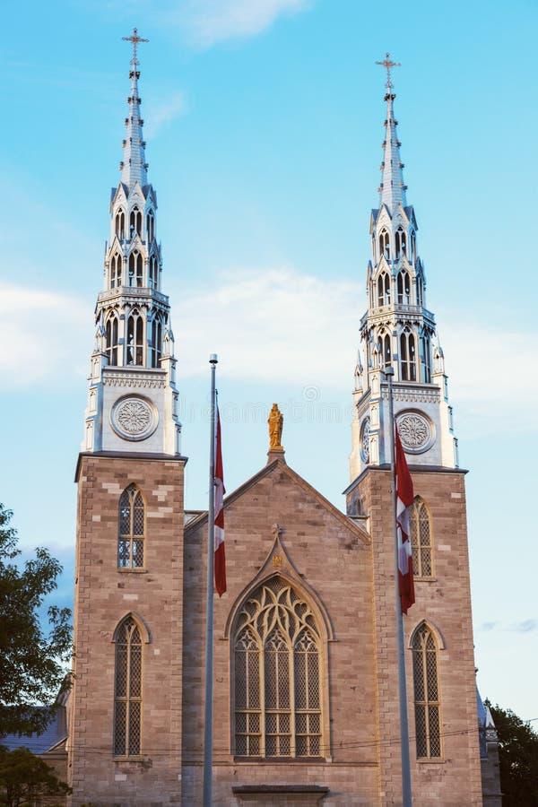 Базилика собора Нотре Даме в Оттава стоковое изображение rf