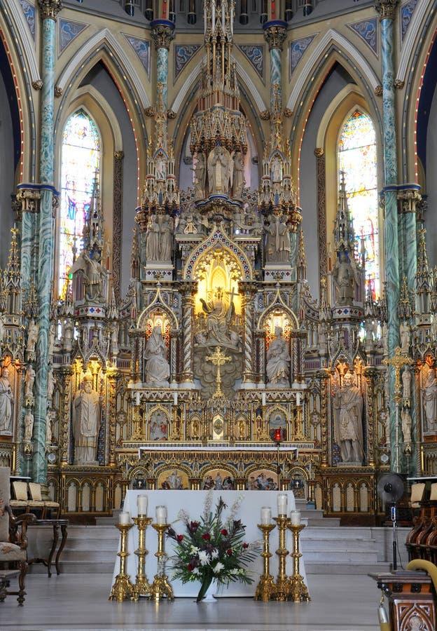 Базилика собора Нотре Даме, Оттава стоковое фото rf