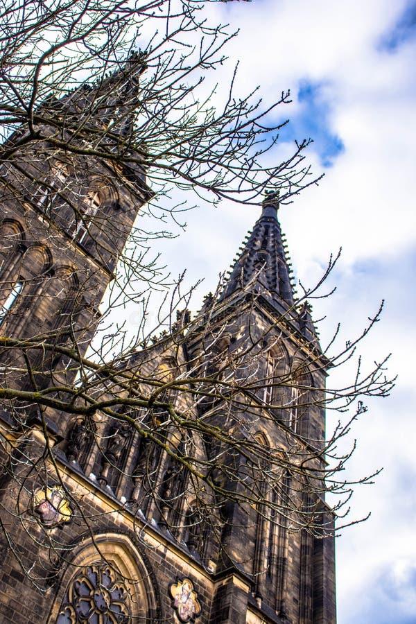 Базилика церков St Peter и St Paul, Праги, чехии стоковое изображение rf