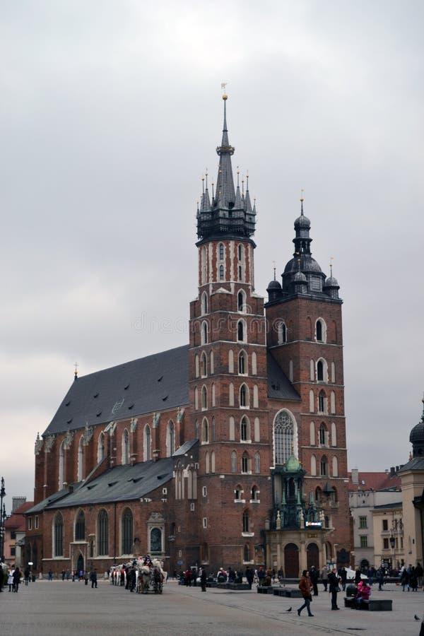Базилика Cracow St Mary стоковая фотография rf