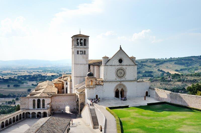 Базилика di Сан Francesco в Assisi, Италии стоковые изображения