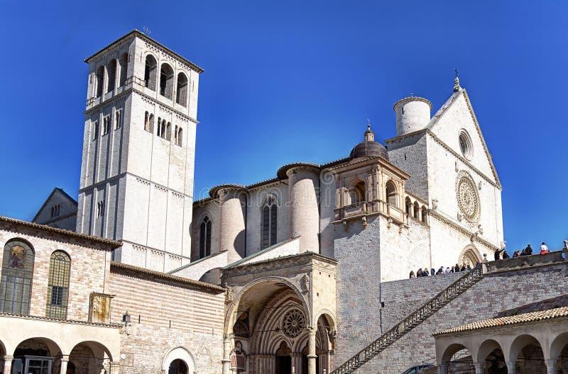 базилика francesco san assisi стоковое фото