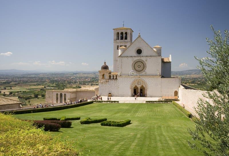 базилика francesco san assisi стоковое изображение