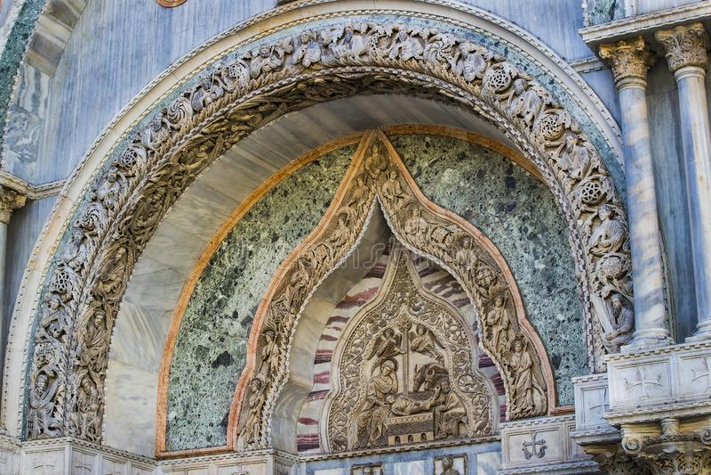 Базилика ` s St Mark в Венеции стоковое изображение rf