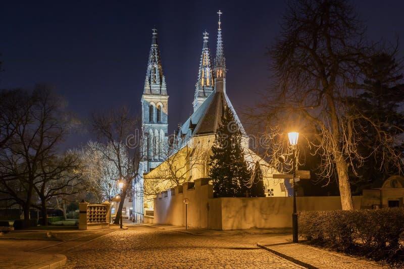 Базилика St Peter и St Paul в Vysehrad, Прага, стоковые фото