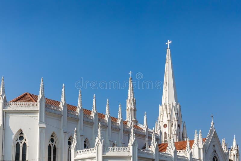 Базилика St. Thomas, Ченнаи, Tamil Nadu, Индия стоковые фотографии rf