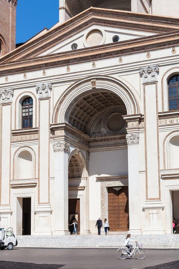 Базилика ` Андреа Sant на аркаде в Mantua стоковые фото