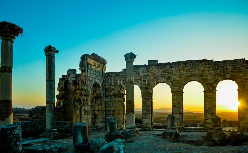 Базилика места Volubilis стоковая фотография