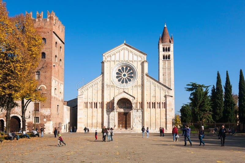 Базилика Сан Зенона, Верона, Италия стоковое фото rf