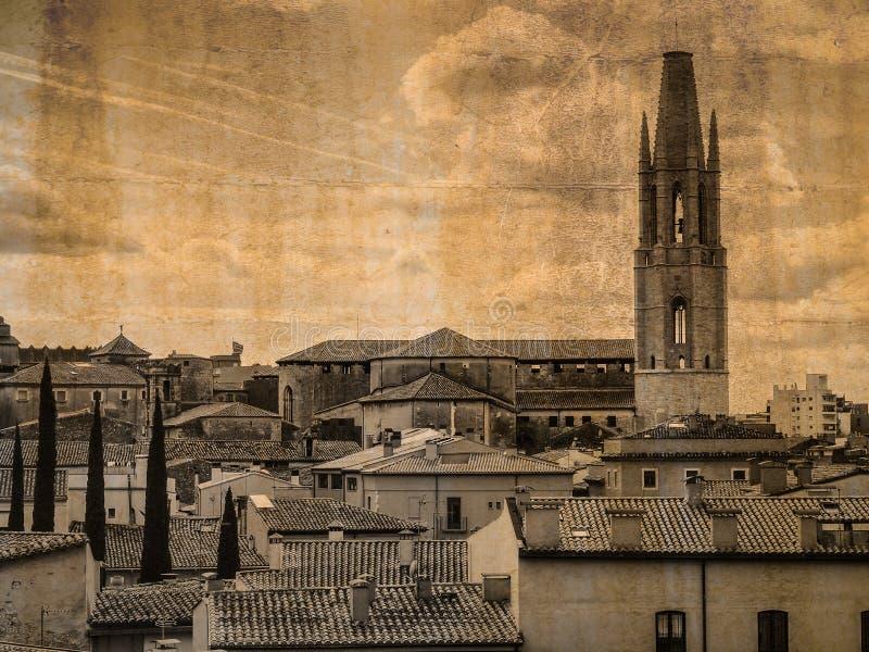 Базилика Сан Feliu Хероны, Испании стоковое изображение