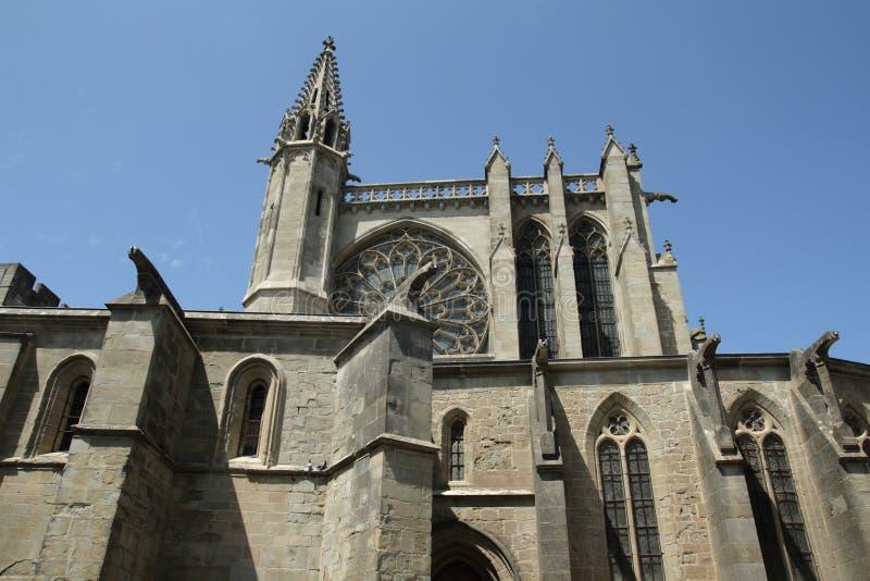 Базилика Свят-Nazaire в Каркассоне стоковые изображения rf