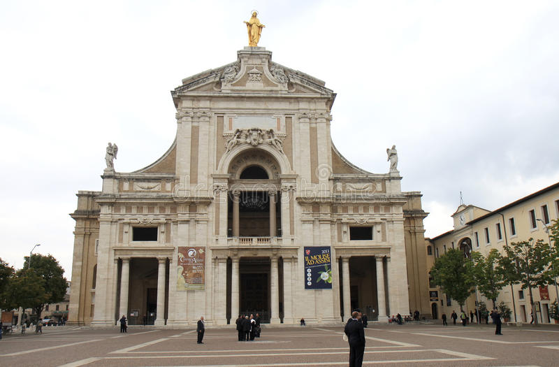 Базилика degli Angeli Santa Maria, Assisi стоковое изображение rf