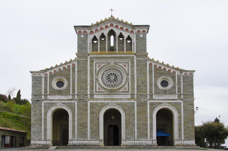 Базилика di Санта Margherita в Cortona, Италии стоковая фотография