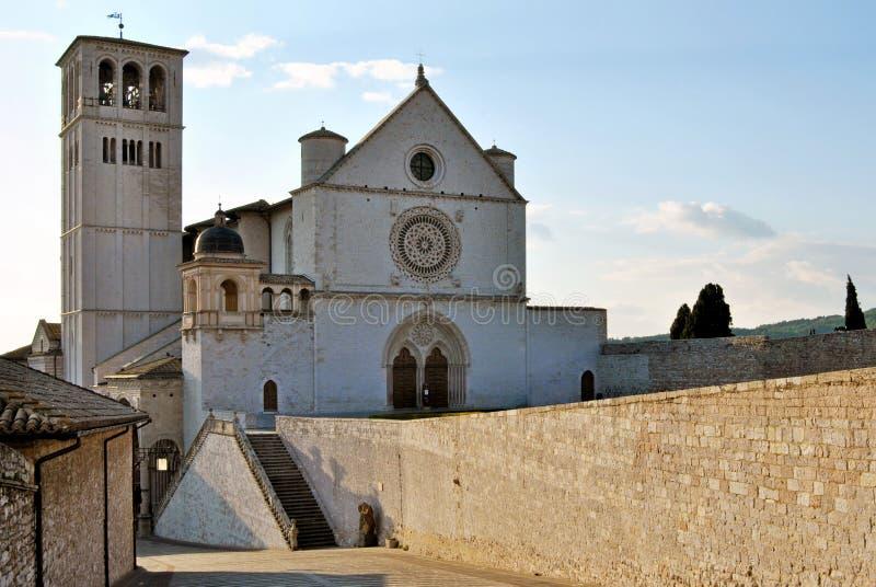 Базилика di san Francesco, assisi Италия стоковые фото