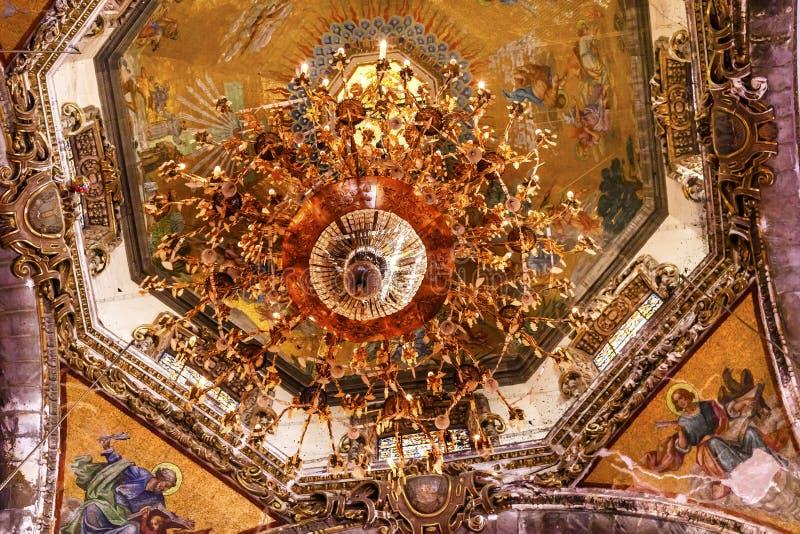 Базилика Guadalupe Мехико Мексика мозаик купола старая стоковое изображение