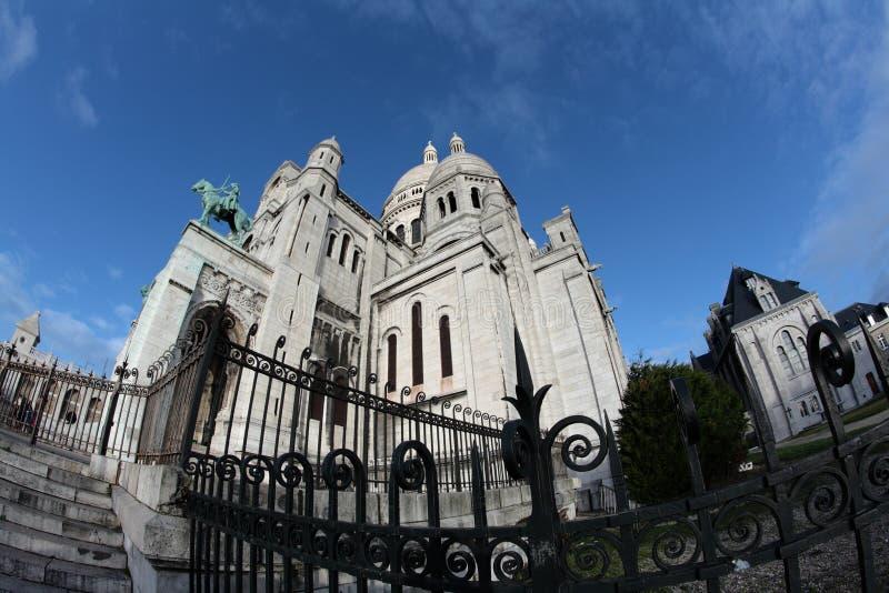 Базилика Sacre Coeur, Парижа стоковые фотографии rf