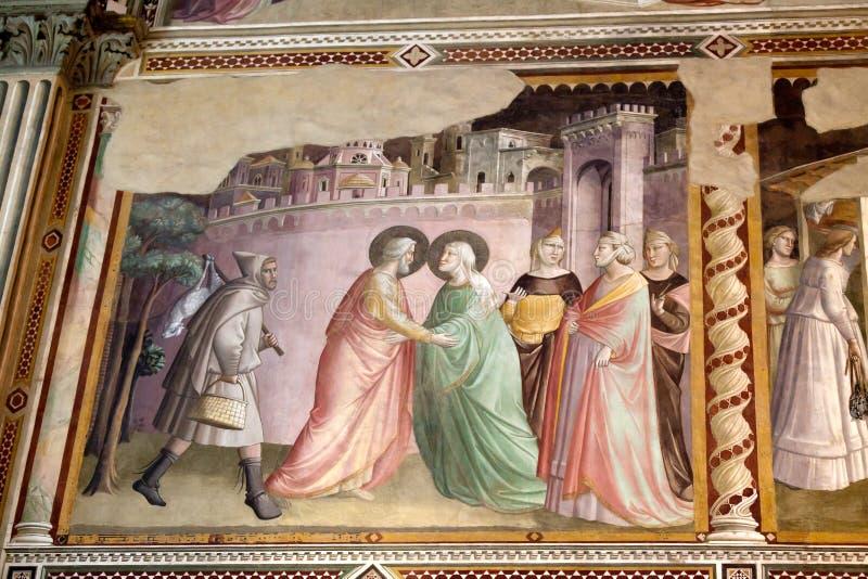 Базилика Santa Croce в Флоренсе. стоковое фото rf