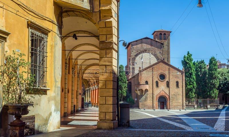 Базилика Santo Stefano в болонья Эмилия-Романья Италия стоковое изображение rf