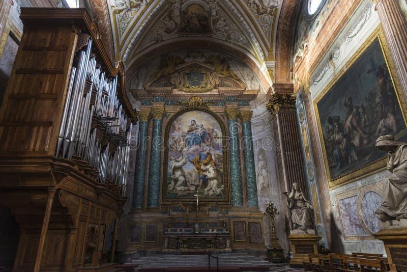 Базилика St Mary ангелов и мученики в Риме, Ital стоковые изображения