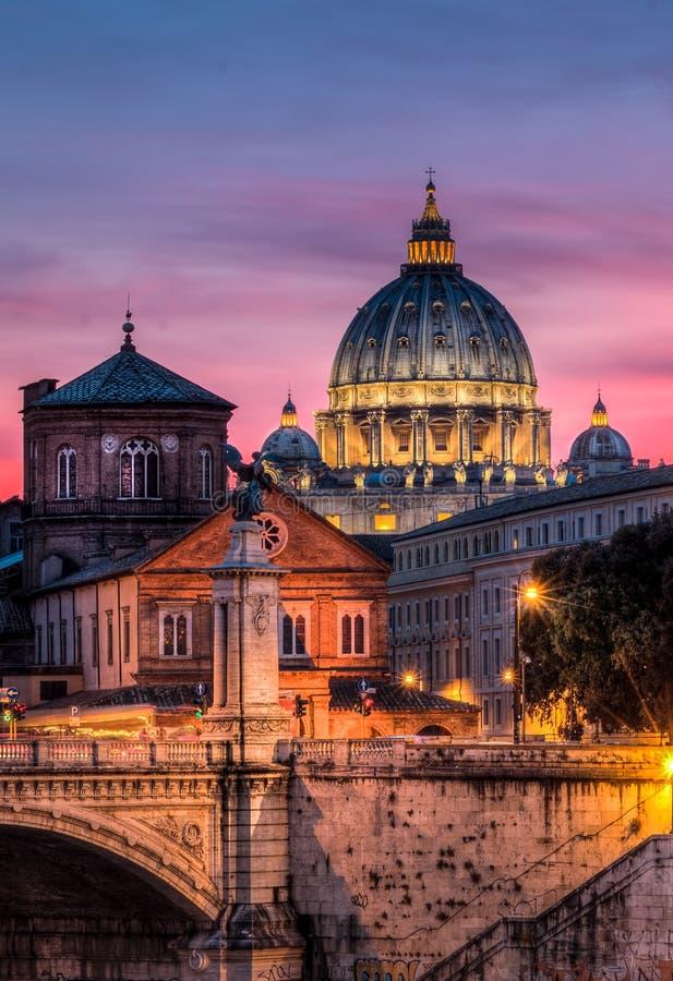 Базилика St Peter Рим стоковое изображение rf