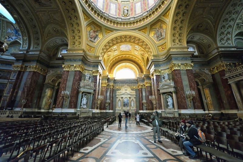 Базилика St Stephen, Будапешт стоковое изображение rf