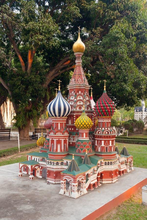 Базилик St в мини парке Сиама стоковые фото