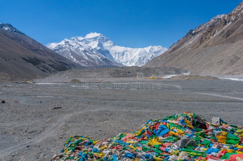 Базовый лагерь Эвереста, Тибет стоковое фото rf