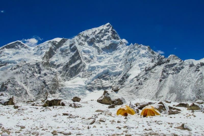Базовый лагерь Эверест стоковое изображение