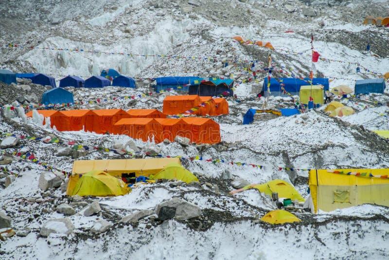 Базовый лагерь Эверест стоковое фото rf