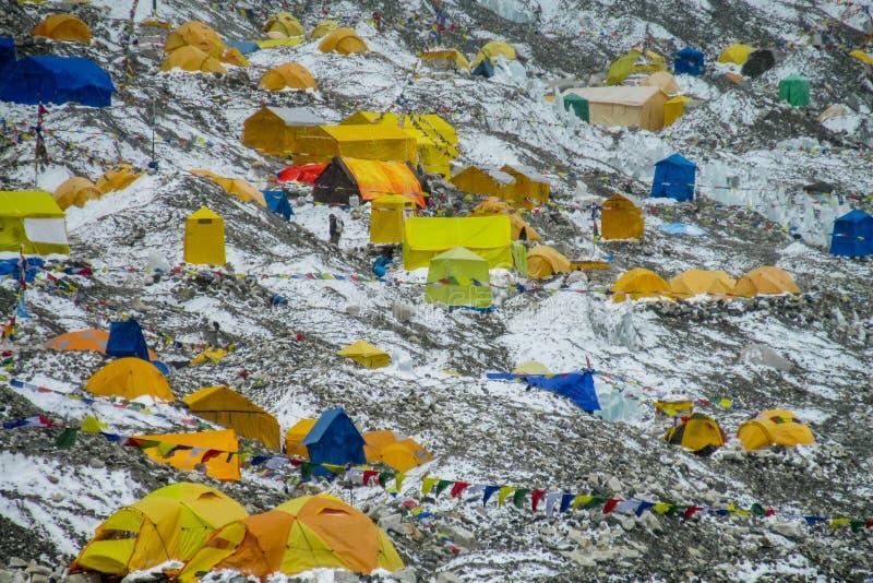Базовый лагерь Эверест стоковые изображения rf