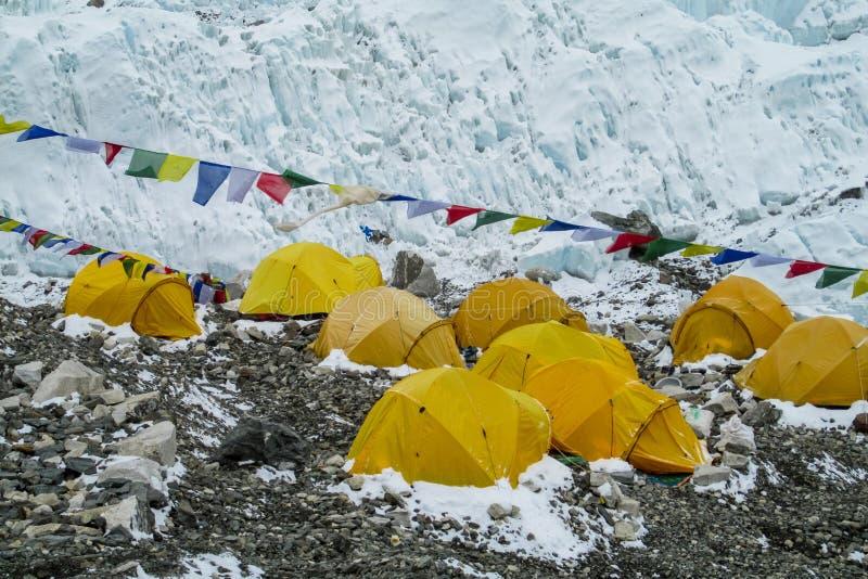 Базовый лагерь Эверест стоковые изображения