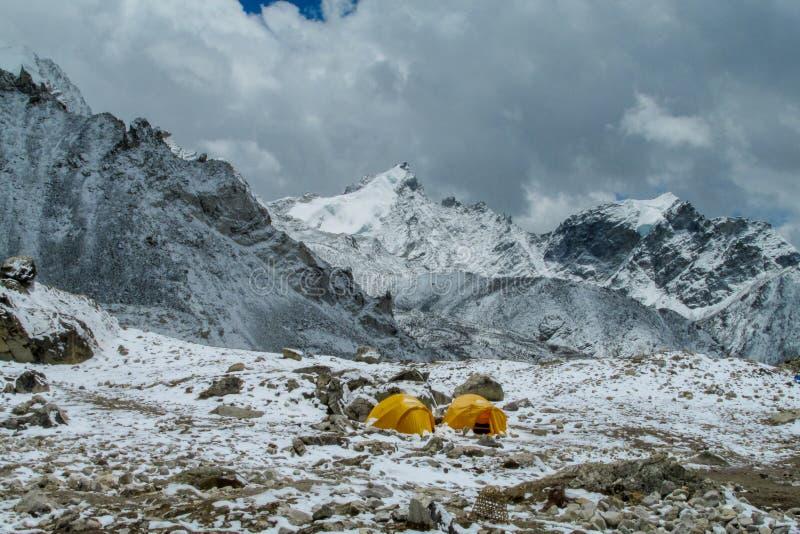 Базовый лагерь Эверест стоковая фотография