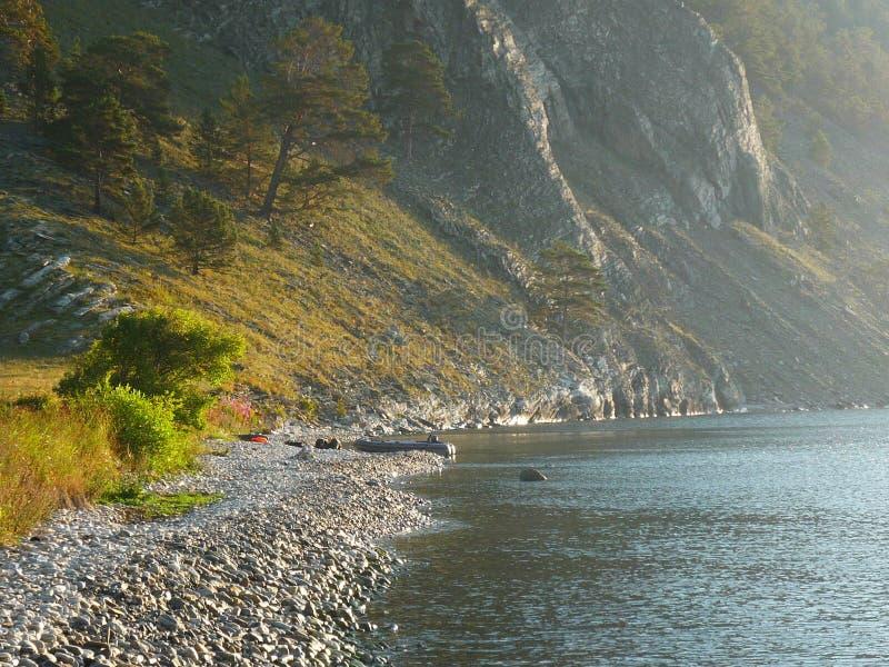 Байкал в утре стоковая фотография