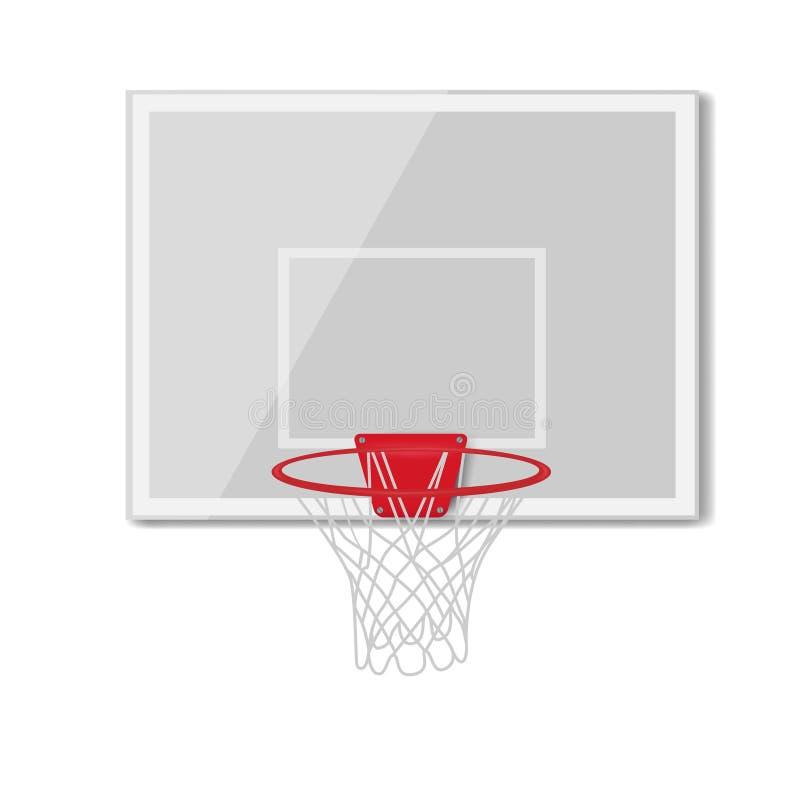 бакборт баскетбола, кольцо, круг, пункт, спортивный инвентарь вектор стоковые фотографии rf