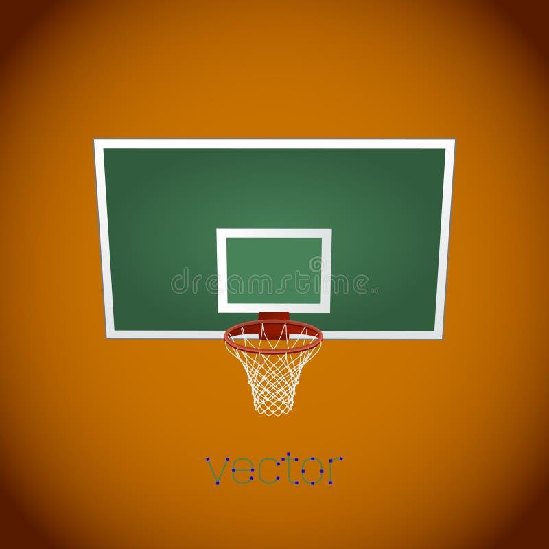 Бакборт баскетбола, корзина баскетбола, обруч баскетбола иллюстрация вектора