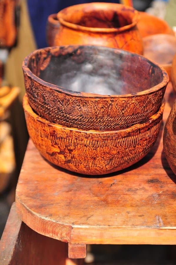 баки глины handmade стоковое фото