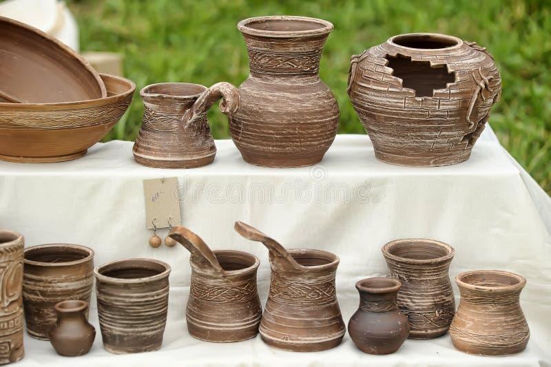 баки глины handmade стоковое изображение