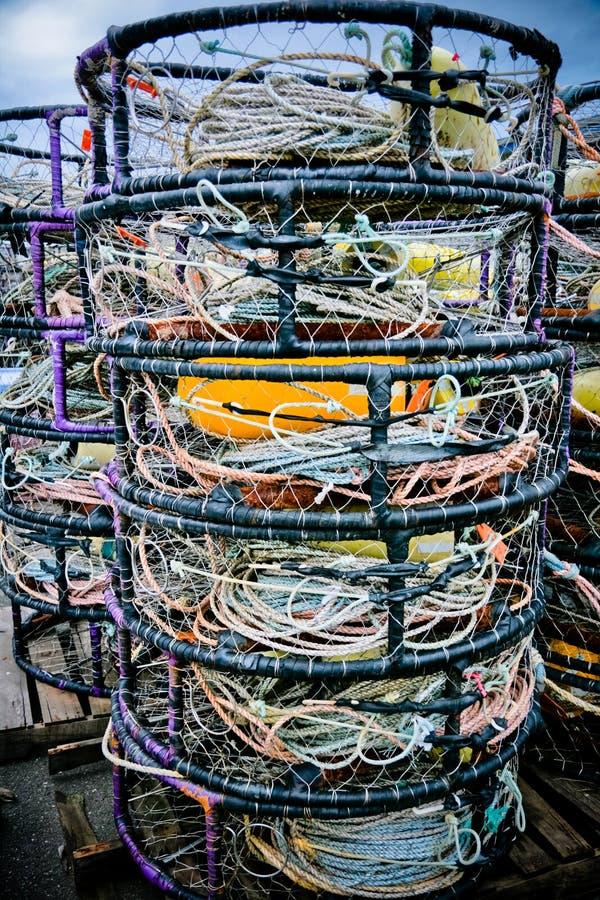 Баки рака для Crabbing стоковые изображения