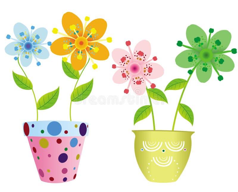 баки цветков довольно 2 бесплатная иллюстрация