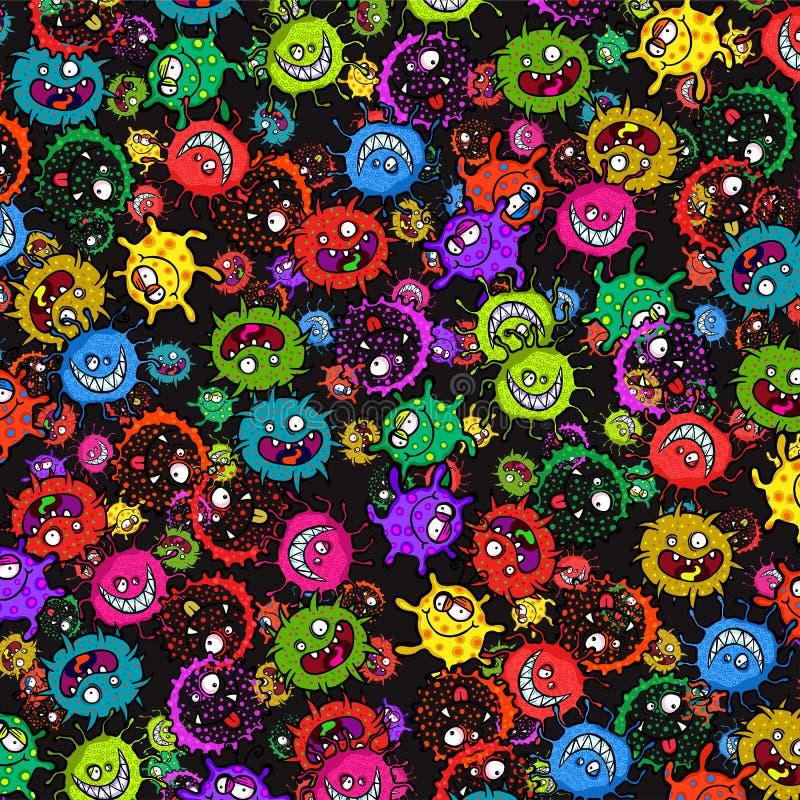 Бактериальная картина поверхности вспышки аллергии бесплатная иллюстрация
