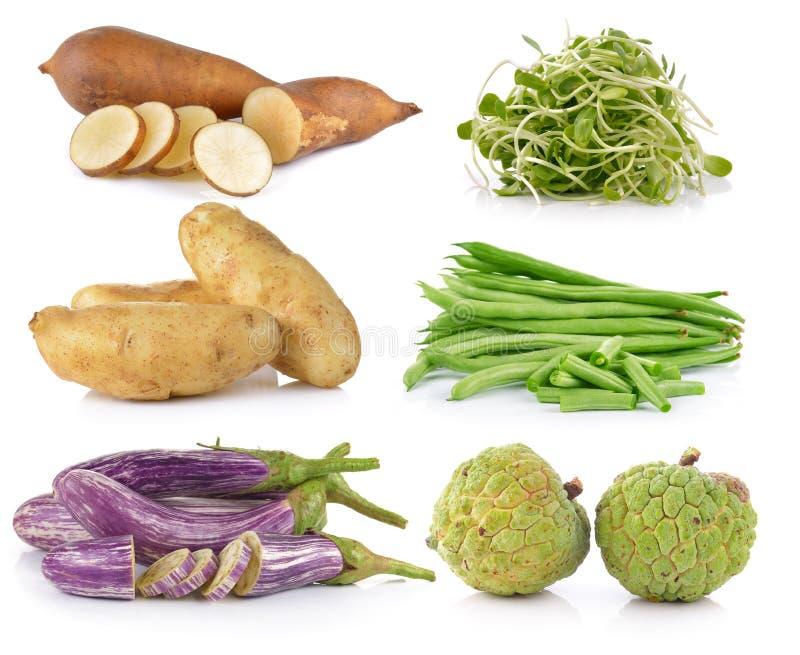 Баклажан, картошка, яблоко заварного крема, зеленые фасоли, молодой солнцецвет, s стоковое изображение rf