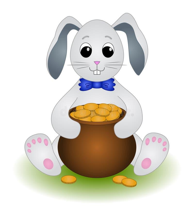 бак зайцев золота сидит иллюстрация вектора