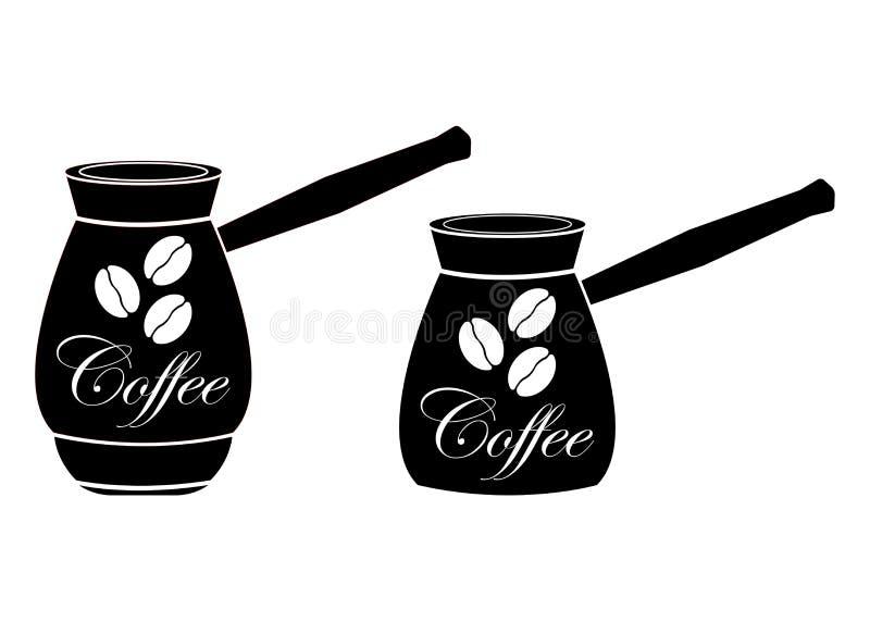 Бак кофе процесс подготовки фото машины выдержки espresso кофе длинний Черная картина на белой предпосылке иллюстрация штока