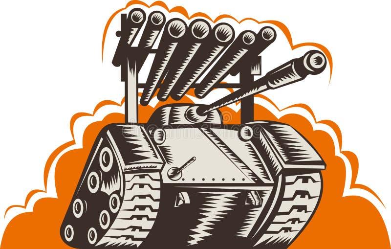 бак ракеты пусковой установки сражения иллюстрация штока