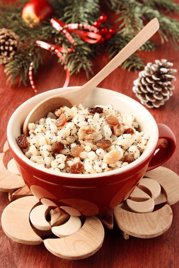 Бак с kutia Традиционная еда помадки рождества стоковые изображения